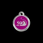 Purple Mouse Pet Tag