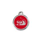 Red Mouse Pet Tag