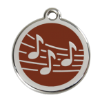 Brown Music Pet Tag