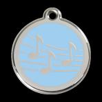 Light Blue Music Pet Tag
