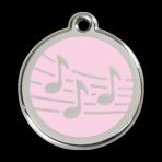 Pink Music Pet Tag