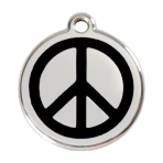 Black Peace Pet Tag