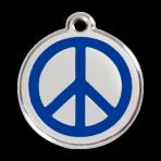 Dark Blue Peace Pet Tag