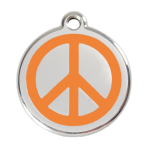 Orange Peace Pet Tag