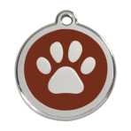 Brown Pawprint Pet Tag