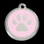 Pink Pawprint Pet Tag