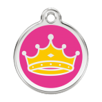 Hot Pink Queen Pet Tag