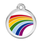 White Rainbow Pet Tag