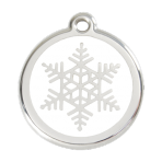 White Snowflake Pet Tag