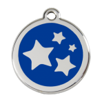 Dark Blue Star Pet Tag