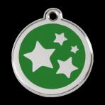 Green Star Pet Tag