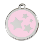 Pink Star Pet Tag