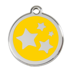 Yellow Star Pet Tag