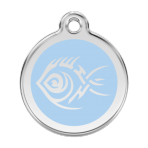Light Blue Tribal Fish Pet Tag