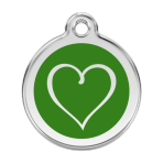 Green Tribal Heart Pet Tag