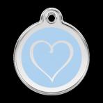 Light Blue Tribal Heart Pet Tag