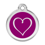 Purple Tribal Heart Pet Tag