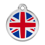 Dark Blue UK Flag Pet Tag