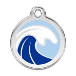 Light Blue Wave Pet Tag