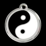 Black Ying and Yang Pet Tag
