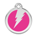 Hot Pink Flash Pet Tag