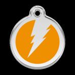 Orange Flash Pet Tag