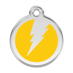 Yellow Flash Pet Tag