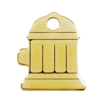 Brass Fire Hydrant Pet Tag