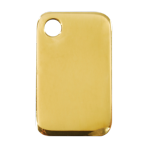 Brass Rectangular Pet Tag