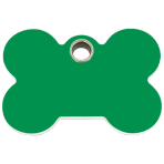 Green Bone Plastic Pet Tag