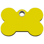 Yellow Bone Plastic Pet Tag