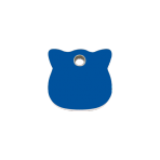 Dark Blue Cat Head Pet Tag