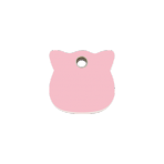 Pink Cat Head Pet Tag