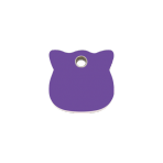 Purple Cat Head Pet Tag