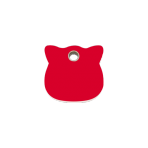 Red Cat Head Pet Tag