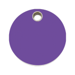 Purple Circle Pet Tag
