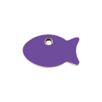 Purple Fish Pet Tag