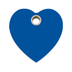 Dark Blue Heart Plastic Pet Tag