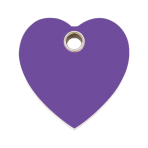 Purple Heart Plastic Pet Tag