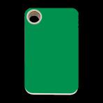 Green Rectangle Plastic Pet Tag