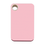 Pink Rectangle Plastic Pet Tag