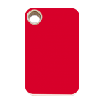 Red Rectangle Plastic Pet Tag