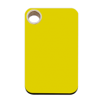 Yellow Rectangle Plastic Pet Tag