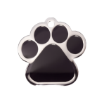 Black Paw Pet Tag