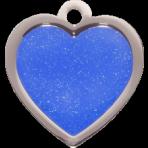 Blue Sparkle Heart Small