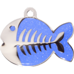 Blue Sparkle Fish Small