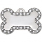 Foxy Bling Bone Pet Tag