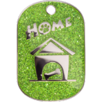 Green Sparkle Home Tag Small