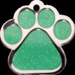 Green Sparkle Paw Print Large