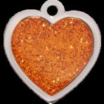 Orange Sparkle Heart Small